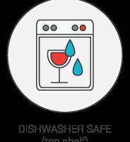 Product Icon - Dishwasher Safe (top shelf)