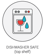 Product Icon - Dishwasher Safe (top shelf)