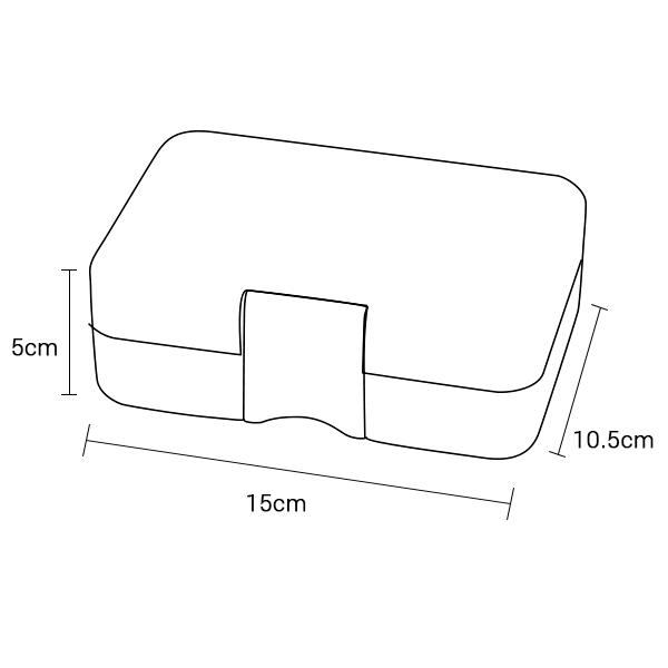Yumbox Mini - Dimensions Closed