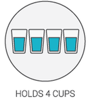 Product Icon - Holds 4 Cups