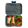 Yumbox Tapas - Flat Iron Tapas - 4 Compartment - Open - Filled