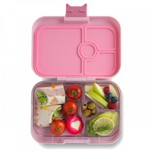 Yumbox Panino - Hollywood Pink - Open With Food