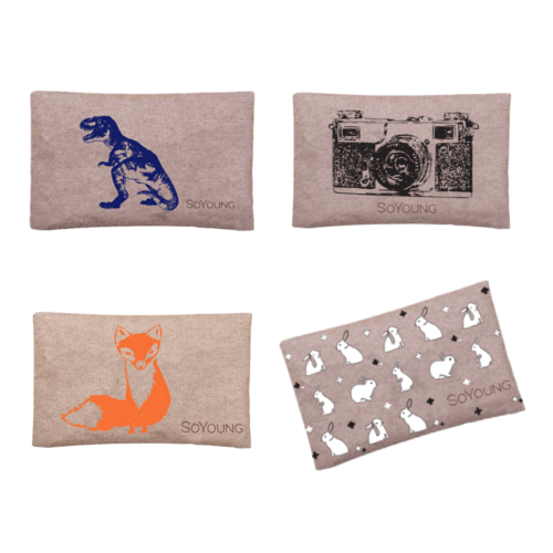 SoYoung Ice Pack - Blue Dino, Black Camera, Orange Fox & Tiled Bunny