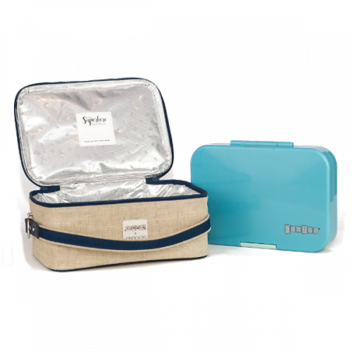 SoYoung Yumbox Collaboration - Lunchbag - Blue Surfs Up Open