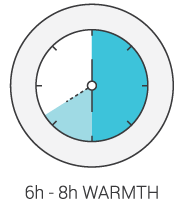 Product Icon - 6 to 8 Hours of Warmth