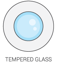 Tempered Glass Icon