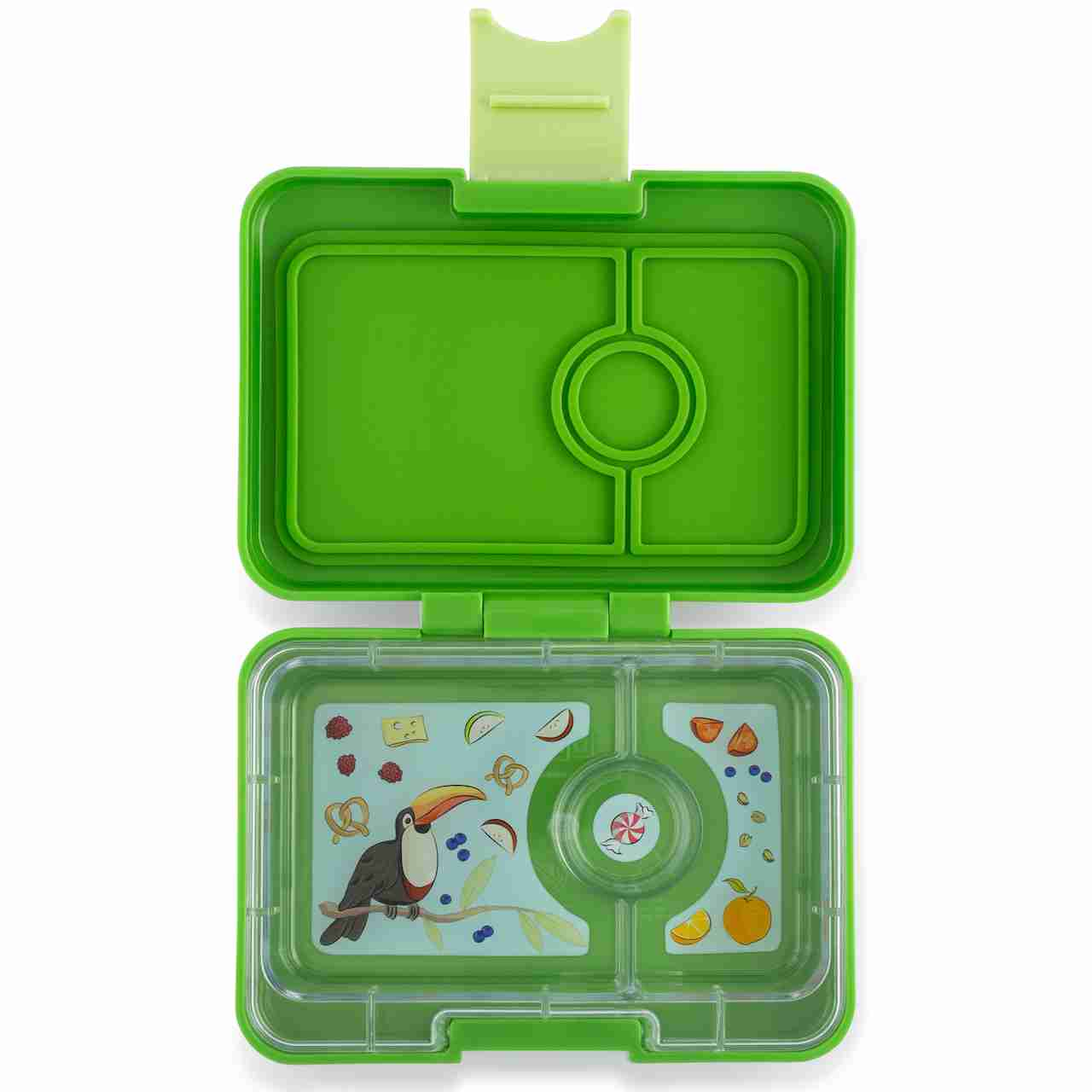 Yumbox Mini Snack - Cilantro Green - Open