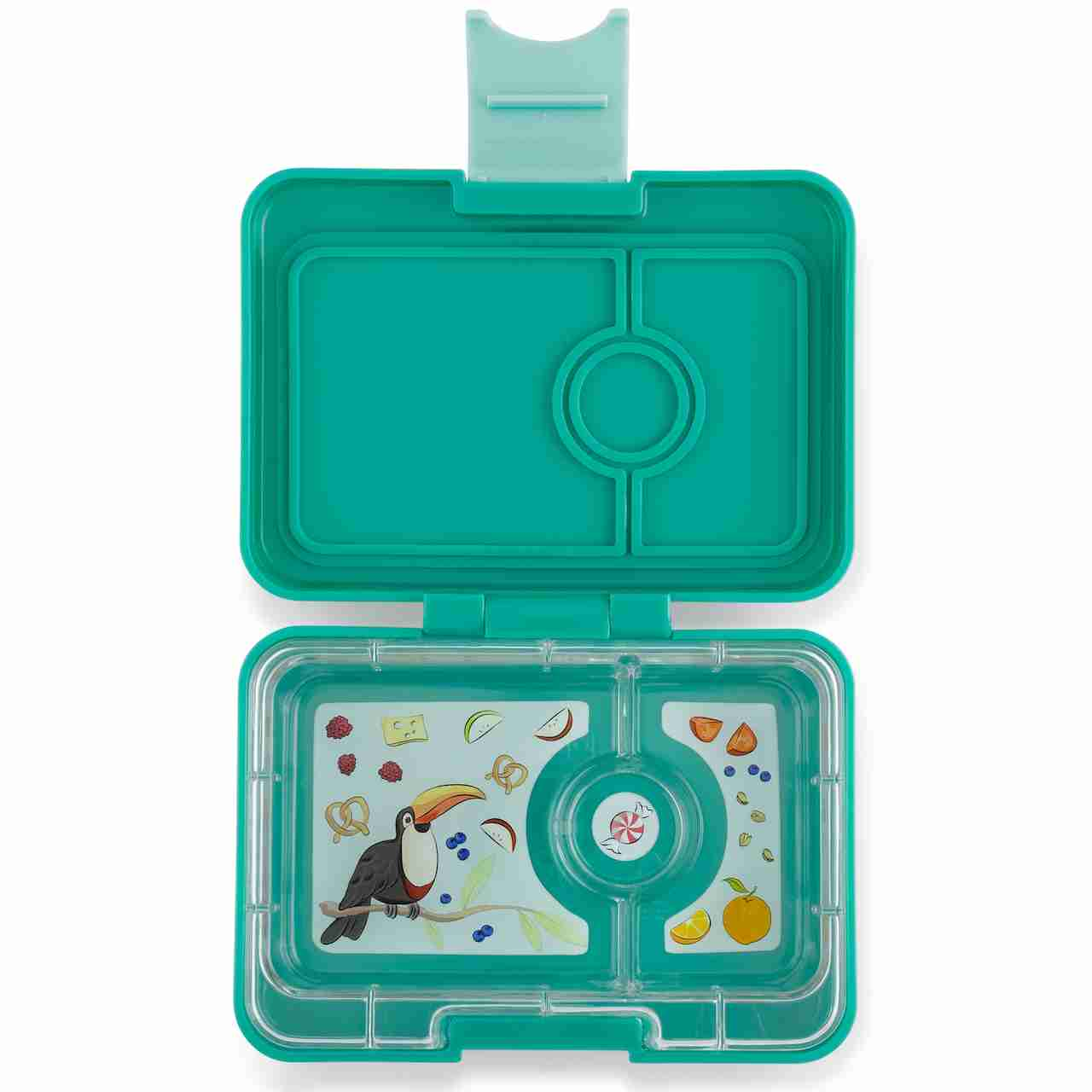 Yumbox Mini Snack - Kashmir Blue - Open