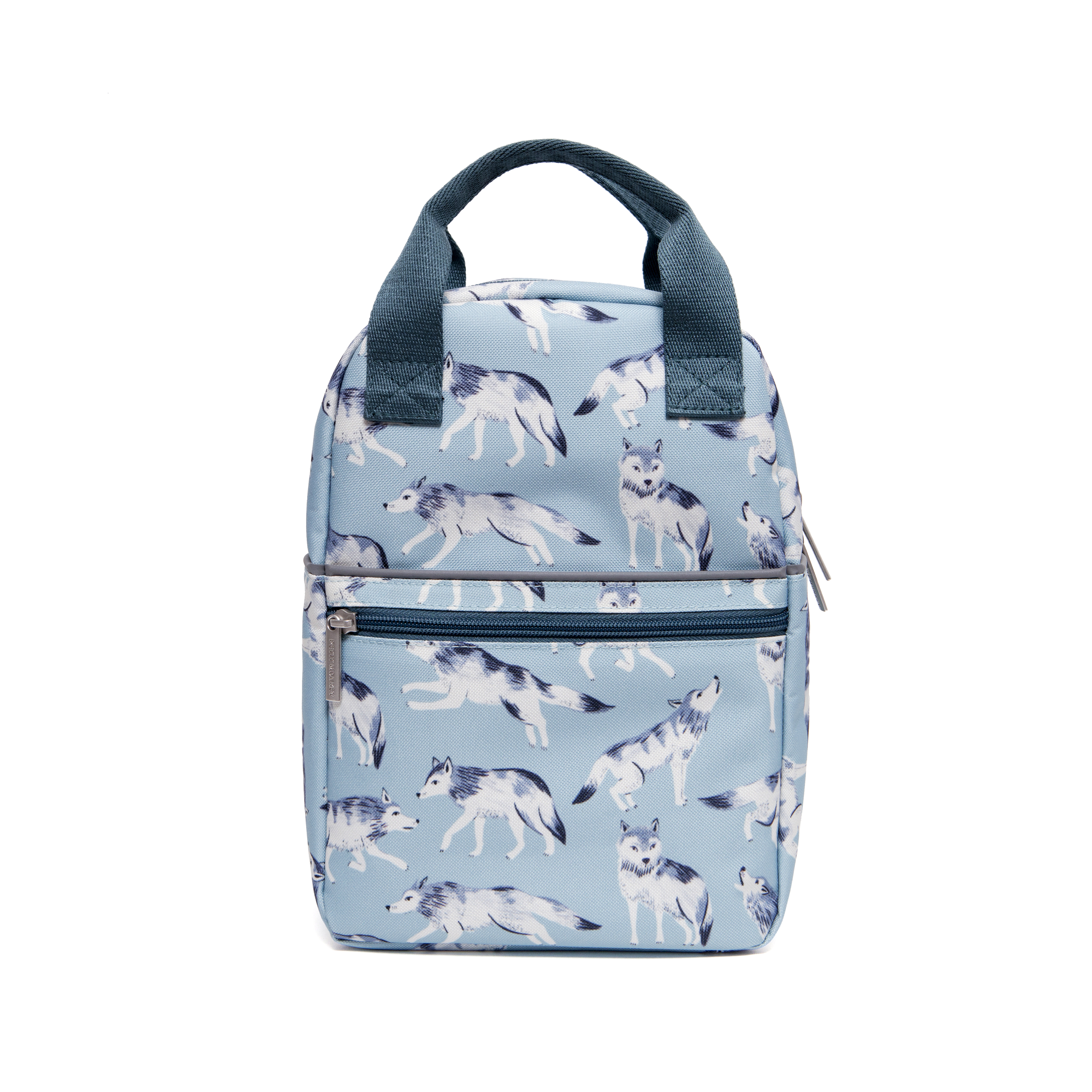 Petit Monkey - Print Backpack - Small Wolves