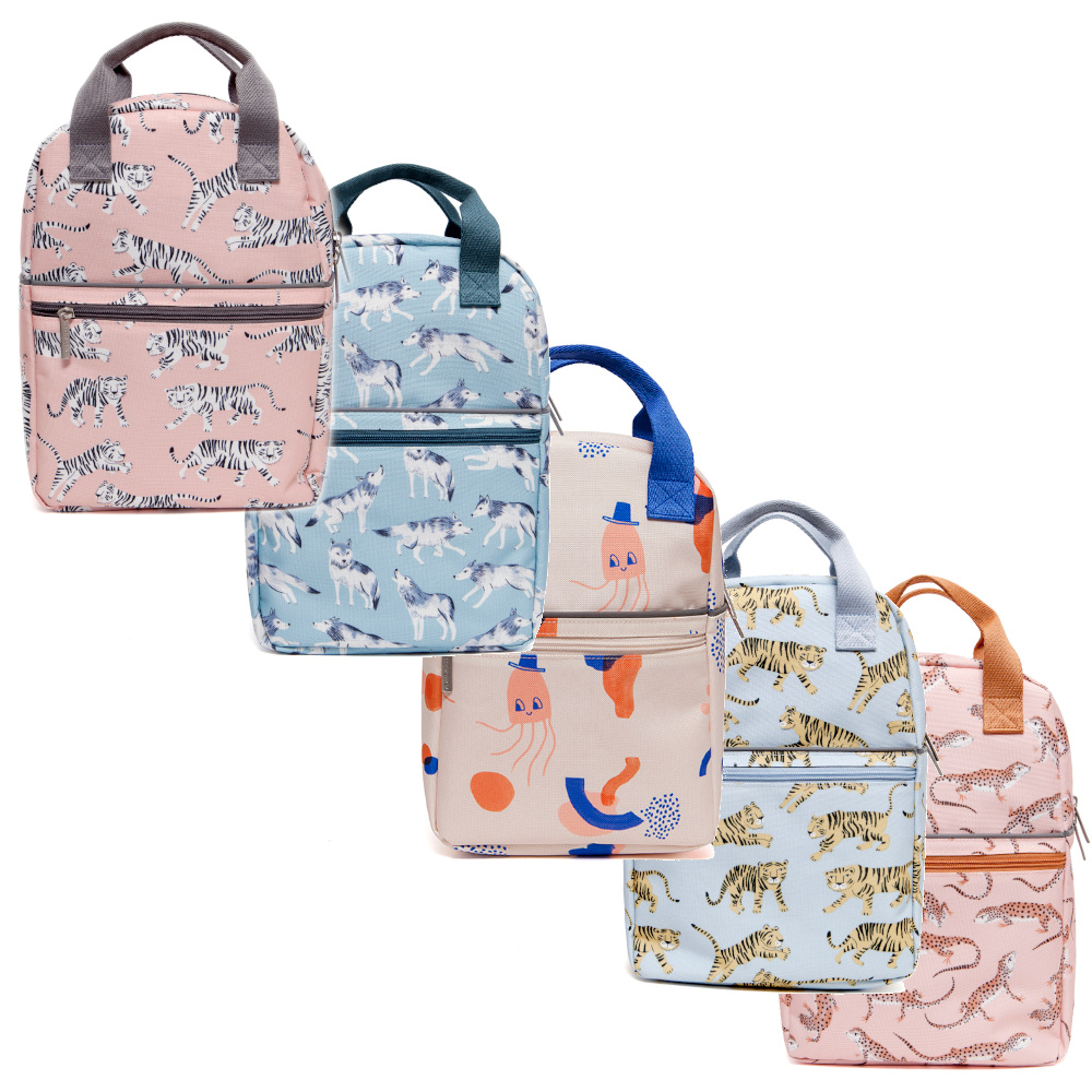 Petit Monkey - Print Backpack - Stacked