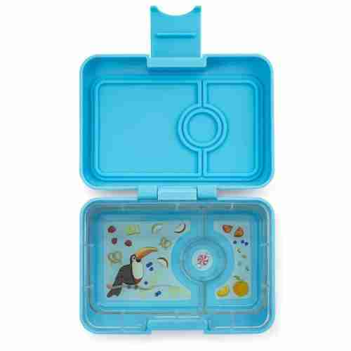 Yumbox - Mini Snack - Open - Nevis Blue