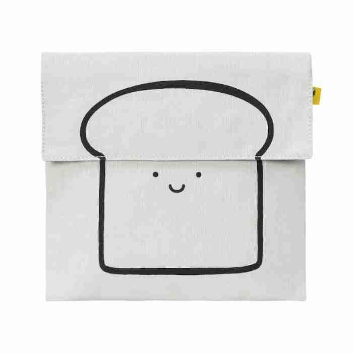 Fluf - Flip Snack Sack - Happy Bread Black