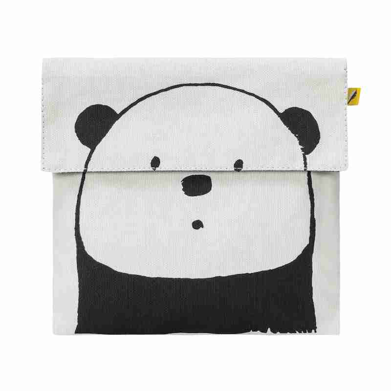 Fluf - Flip Snack Sack - Panda Black