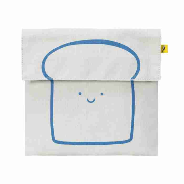 Fluf - Flip Snack Sack - Happy Bread Blue