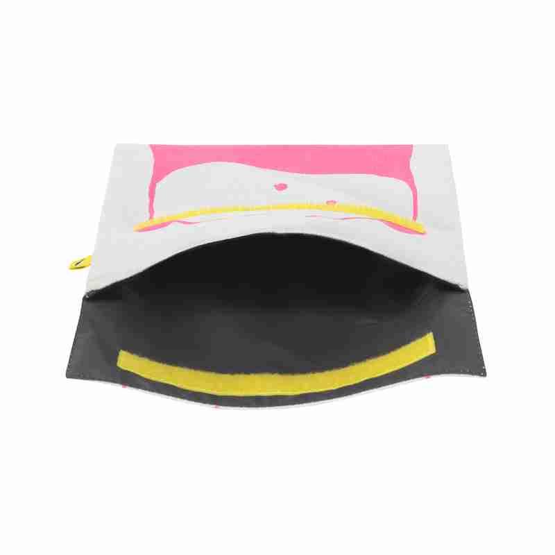 Fluf - Flip Snack Sack - Panda Pink