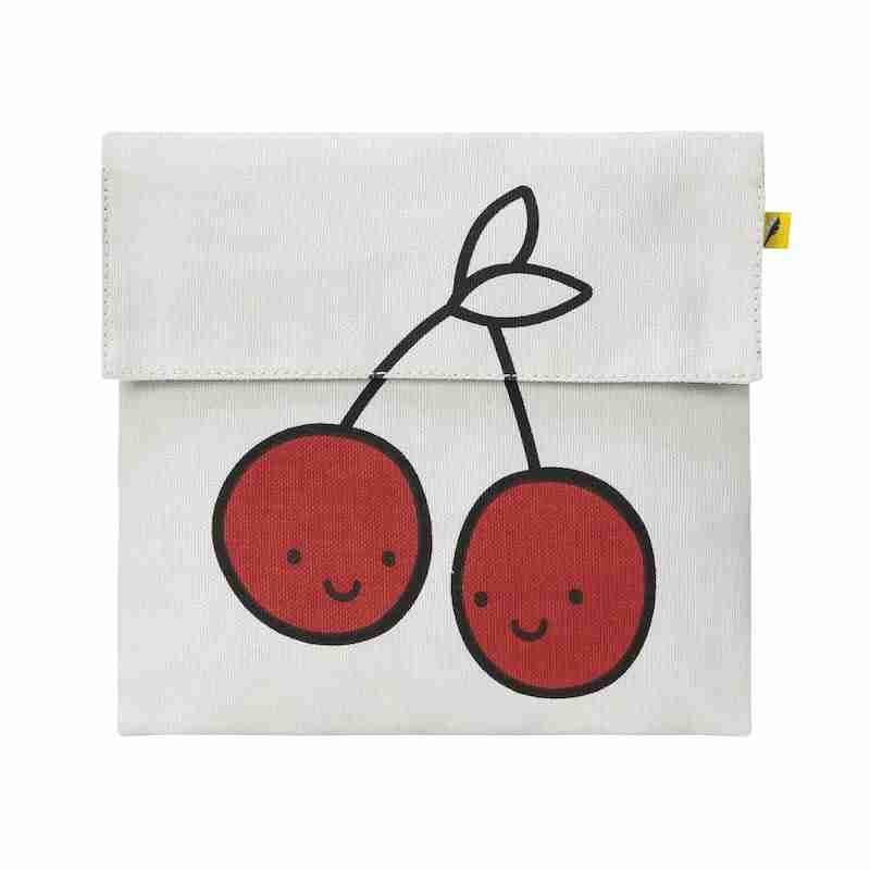 Fluf - Flip Snack Sack - Red Cherries