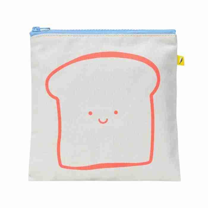 Fluf - Zip Snack Sack - Happy Bread Orange