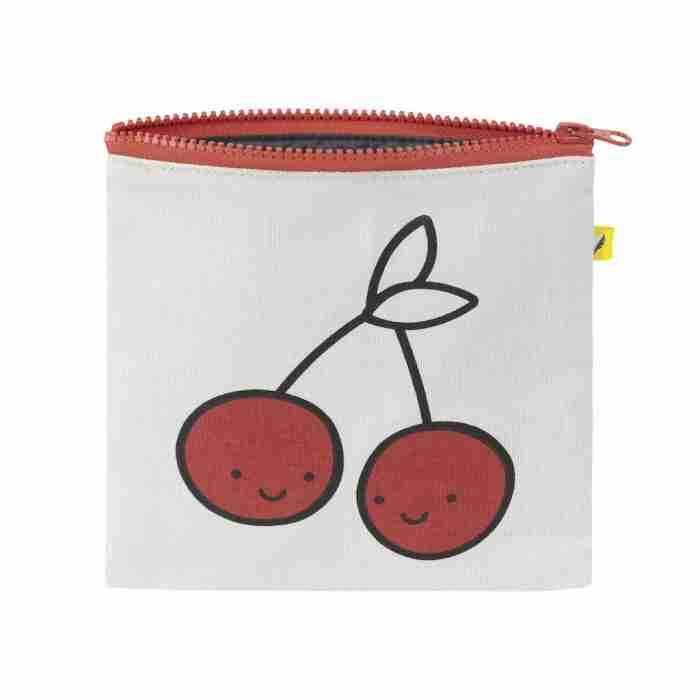 Fluf - Zip Snack Sack - Red Cherries