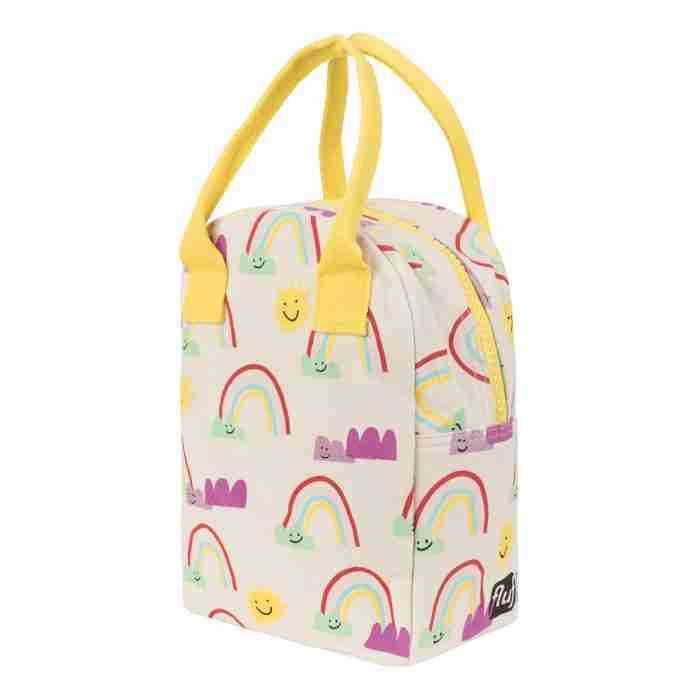 Fluf - Zipper Lunch Bag - Rainbow