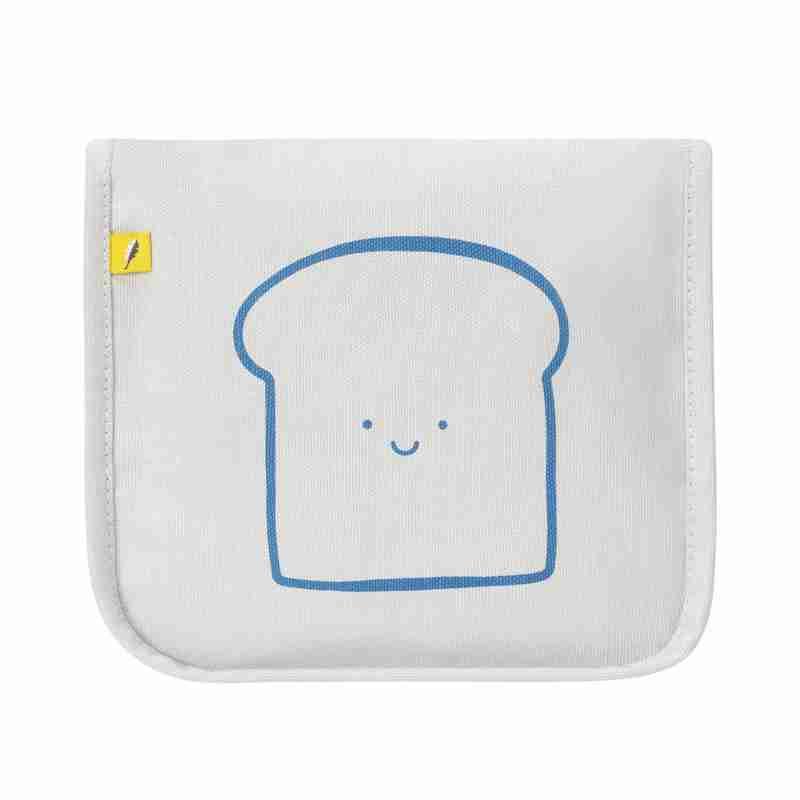Fluf - Snack Mat - Happy Bread Blue