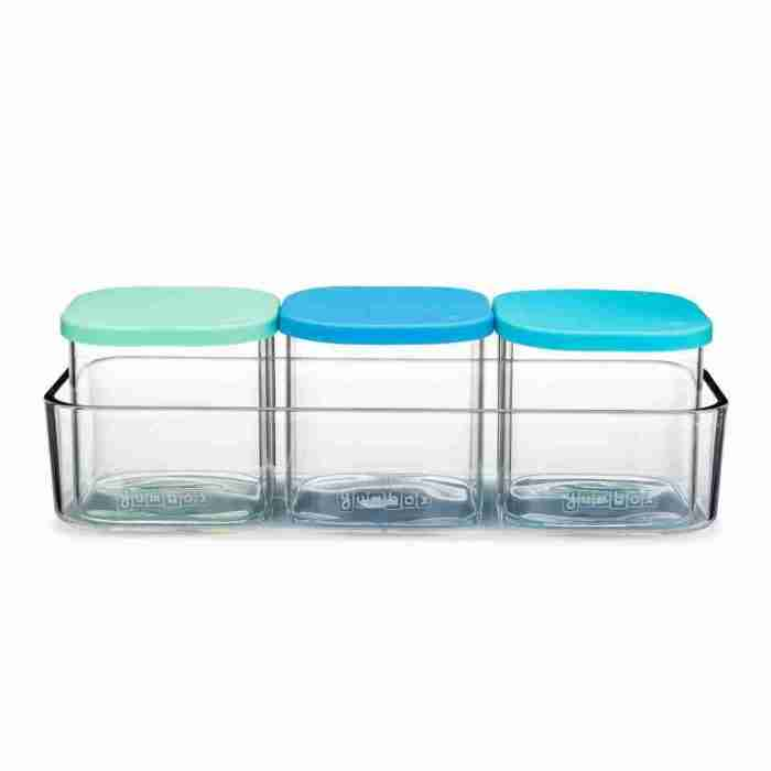 Yumbox - Chop Chop - 3 Glass Cubes - Crisp