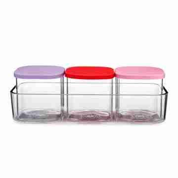 Yumbox - Chop Chop - 3 Glass Cubes - Juicy