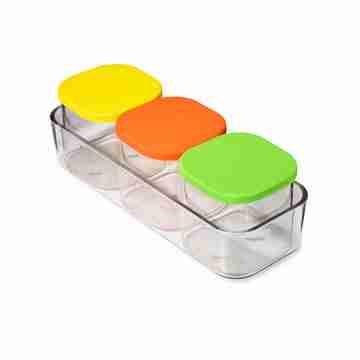 Yumbox - Chop Chop - 3 Glass Cubes - Vibrant