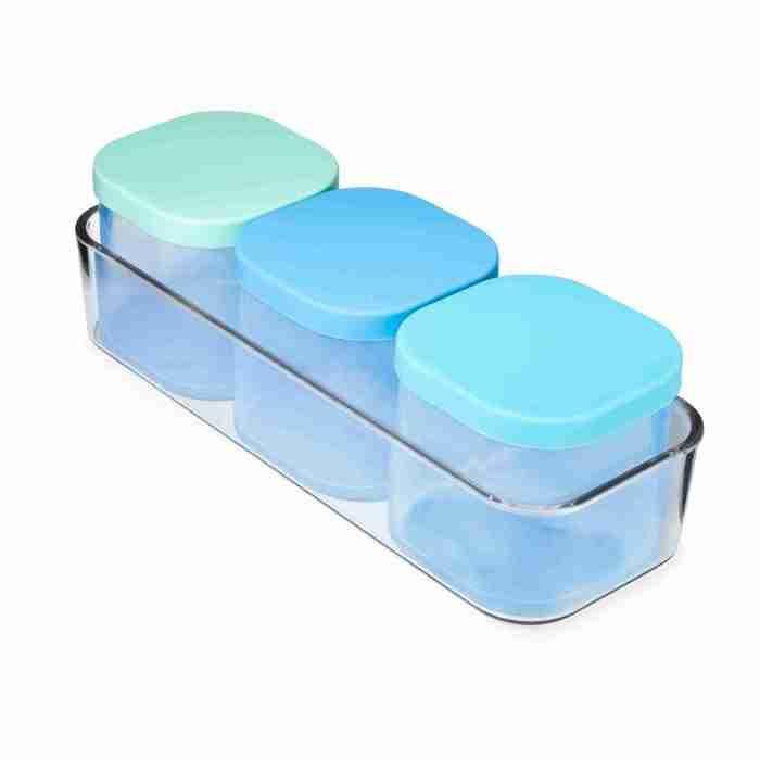 Yumbox - Chop Chop - 3 Silicone Cubes - Crisp