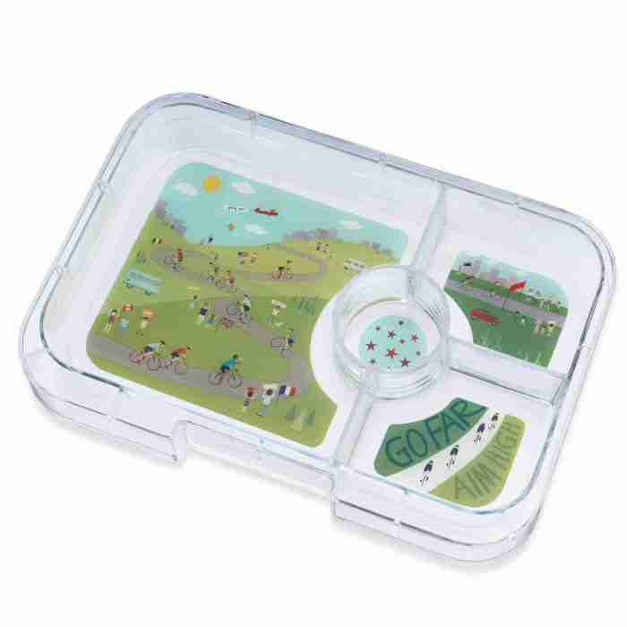 Yumbox - Tapas 4C Tray - Bike Race